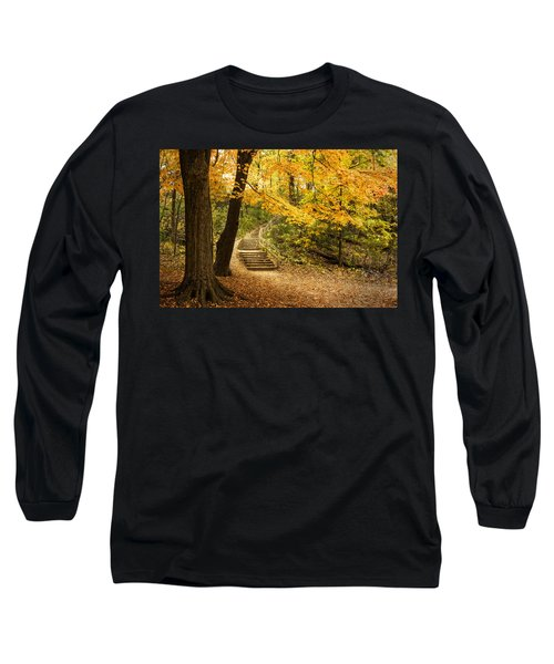 Autumn Stairs Long Sleeve T-Shirt