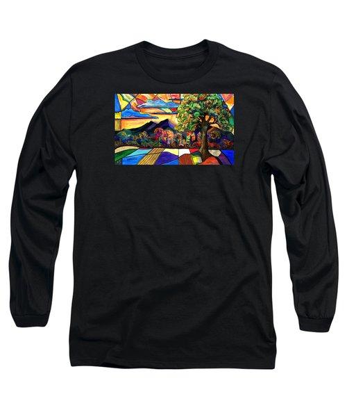 Autumn Sunrise Long Sleeve T-Shirt by Everett Spruill