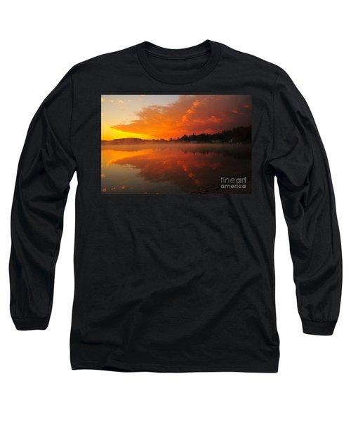 Autumn Sunrise At Stoneledge Lake Long Sleeve T-Shirt by Terri Gostola