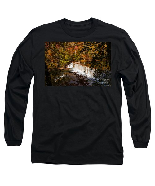 Autumn Trees On Duck River Long Sleeve T-Shirt by Jerry Cowart