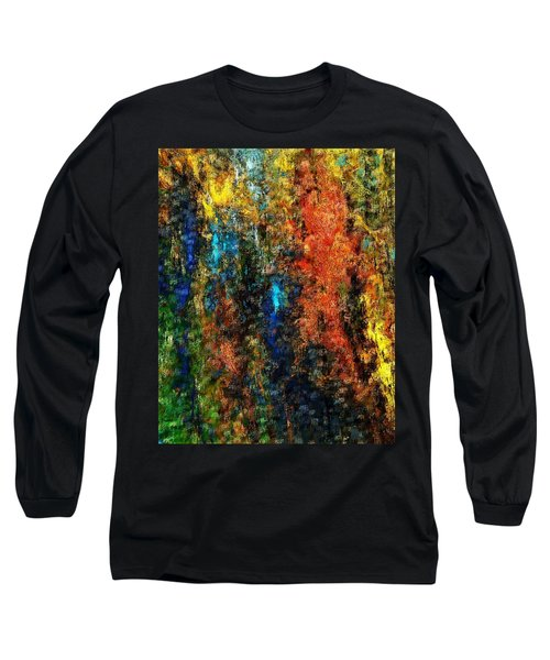 Long Sleeve T-Shirt featuring the digital art Autumn Visions Remembered by David Lane