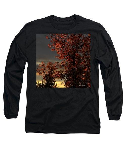 Autumn's First Light Long Sleeve T-Shirt by James Eddy