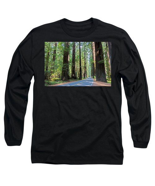Avenue Of The Giants Long Sleeve T-Shirt