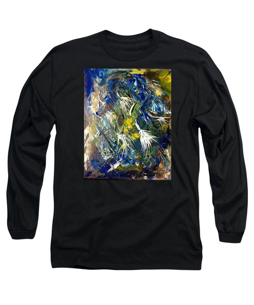 Long Sleeve T-Shirt featuring the painting Awakening The Bear by Kicking Bear  Productions