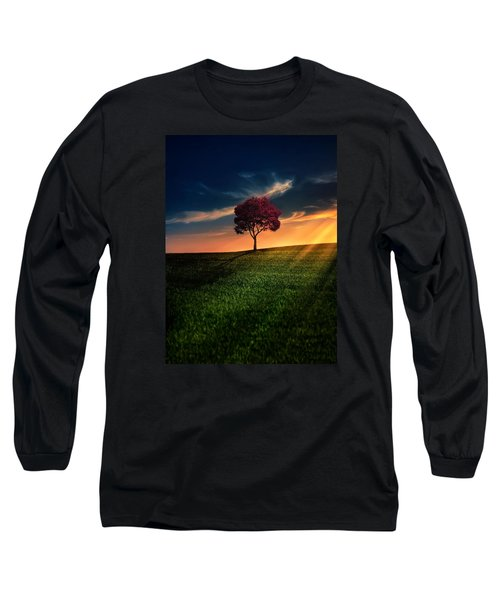 Awesome Solitude Long Sleeve T-Shirt by Bess Hamiti