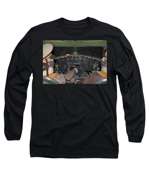 B-17 Bomber Cockpit Long Sleeve T-Shirt