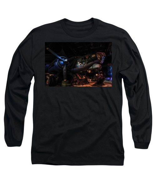 B-17 Exhibit In Hdr Long Sleeve T-Shirt by Michael White