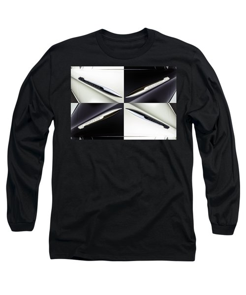 B And W Chevy Long Sleeve T-Shirt