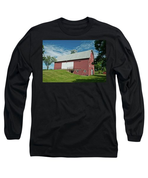 Long Sleeve T-Shirt featuring the photograph Babcock Barn 2263 by Guy Whiteley