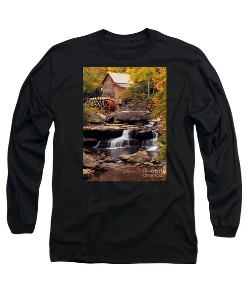 Babcock Grist Mill And Falls Long Sleeve T-Shirt by Jerry Fornarotto
