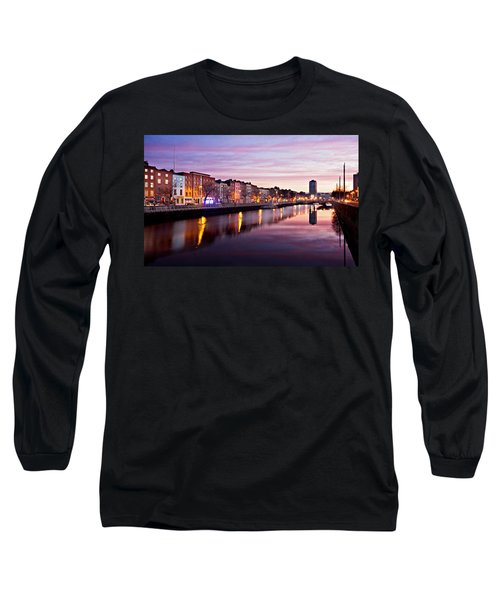 Bachelors Walk And River Liffey At Dawn - Dublin Long Sleeve T-Shirt