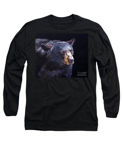 Back In Black Bear Long Sleeve T-Shirt by J W Baker
