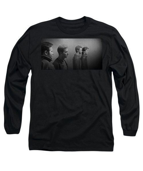 Back Stage With Nsync Bw Long Sleeve T-Shirt