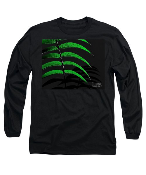Backyard Abstract Long Sleeve T-Shirt