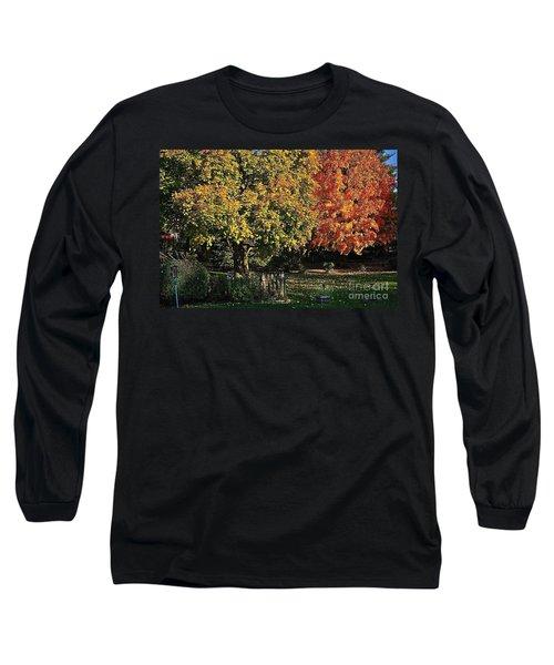 Backyard Morning In The Fall Long Sleeve T-Shirt