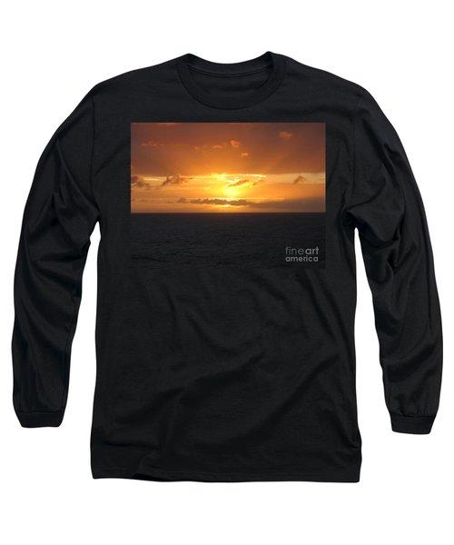 Bahamas Ocean Sunset Long Sleeve T-Shirt by John Telfer