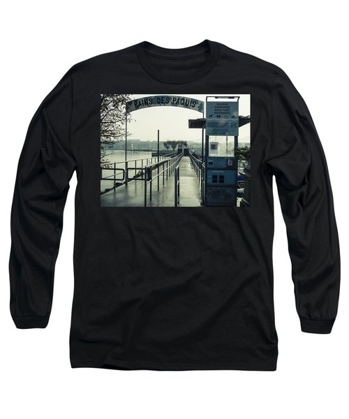 Long Sleeve T-Shirt featuring the photograph Bains Des Paquis by Muhie Kanawati