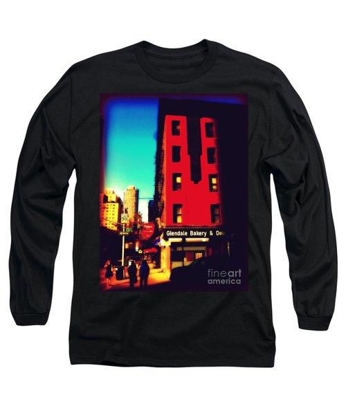 Long Sleeve T-Shirt featuring the photograph The Bakery - New York City Street Scene by Miriam Danar