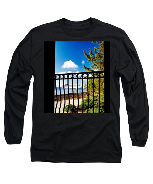 Long Sleeve T-Shirt featuring the photograph Balcony Scene by Amar Sheow