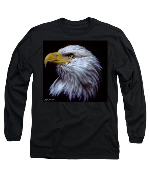 Bald Eagle Long Sleeve T-Shirt by Jeff Goulden
