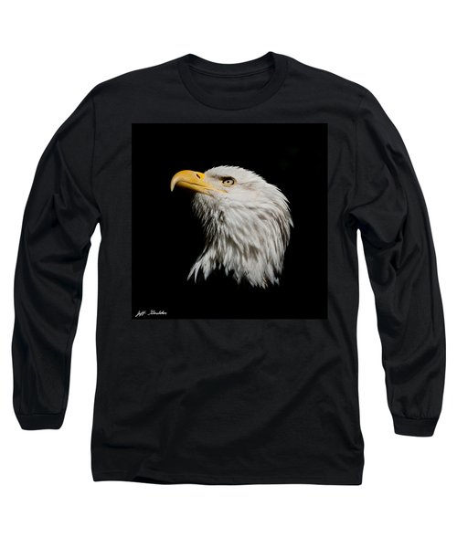 Bald Eagle Looking Skyward Long Sleeve T-Shirt