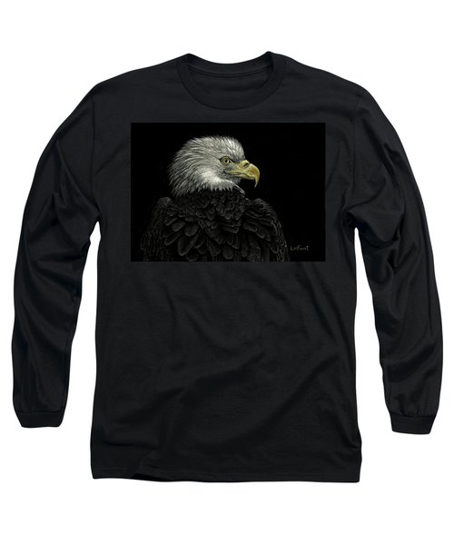 American Bald Eagle Long Sleeve T-Shirt by Sandra LaFaut
