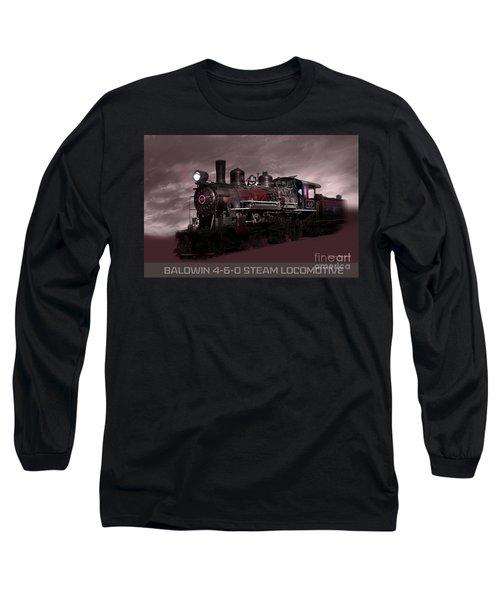Baldwin 4-6-0 Steam Locomotive Long Sleeve T-Shirt