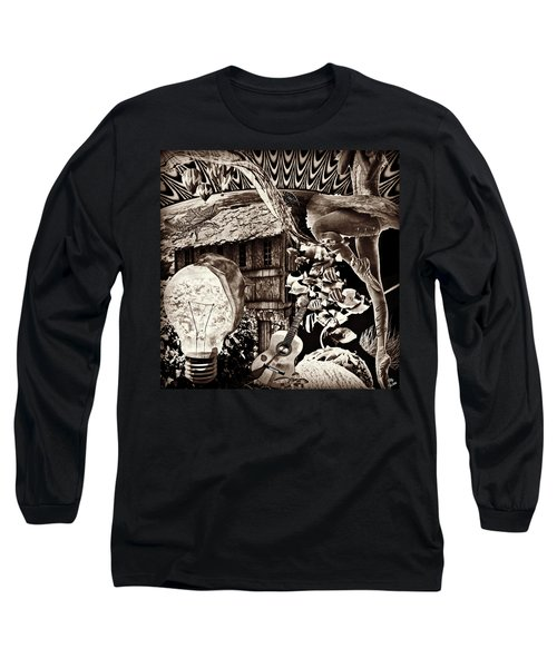 Long Sleeve T-Shirt featuring the mixed media Ballerina Dreams by Ally  White