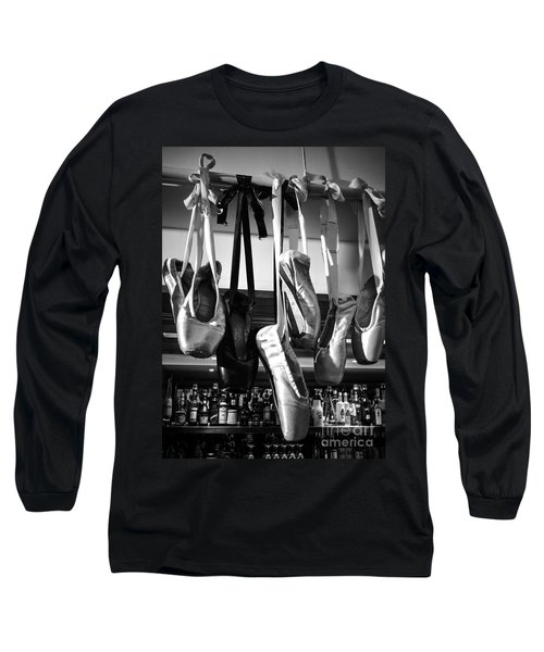 Long Sleeve T-Shirt featuring the photograph Ballet At The Bar by Peta Thames