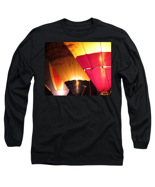 Balloons At Night Long Sleeve T-Shirt by Laurel Powell
