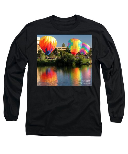 Balloons Over Bend Oregon Long Sleeve T-Shirt by Kevin Desrosiers