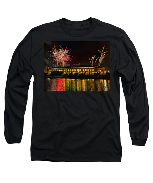 Ballpark Fireworks Long Sleeve T-Shirt