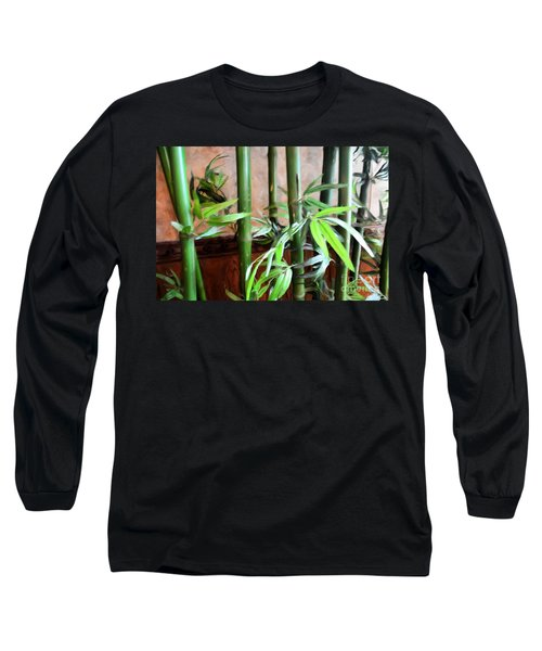 Long Sleeve T-Shirt featuring the photograph Plant -  Bamboo  -  Luther Fine Art by Luther Fine Art