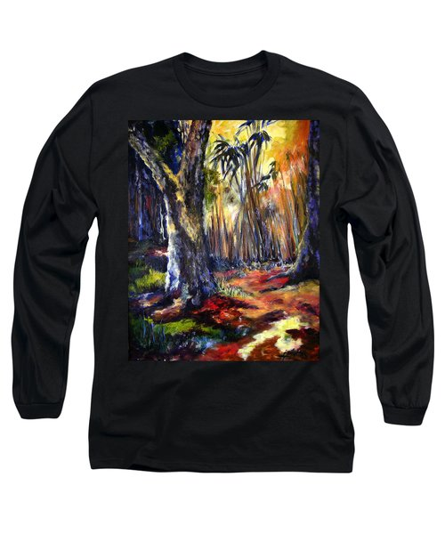Bamboo Garden With Bunny Long Sleeve T-Shirt