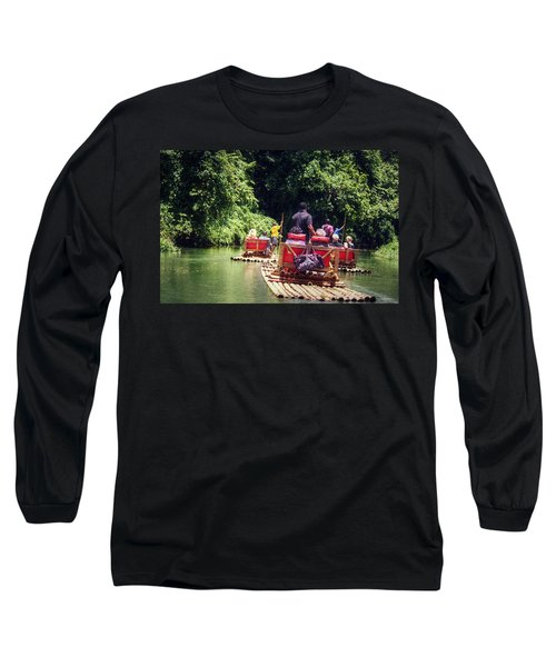 Long Sleeve T-Shirt featuring the photograph Bamboo River Rafting by Melanie Lankford Photography