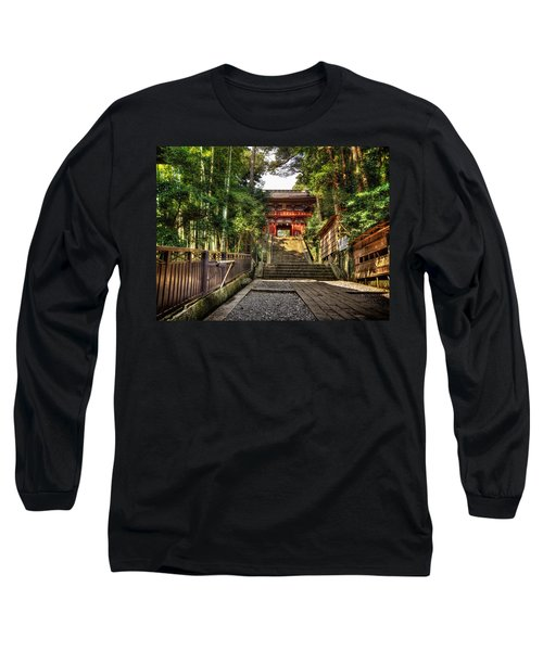Long Sleeve T-Shirt featuring the photograph Bamboo Temple by John Swartz