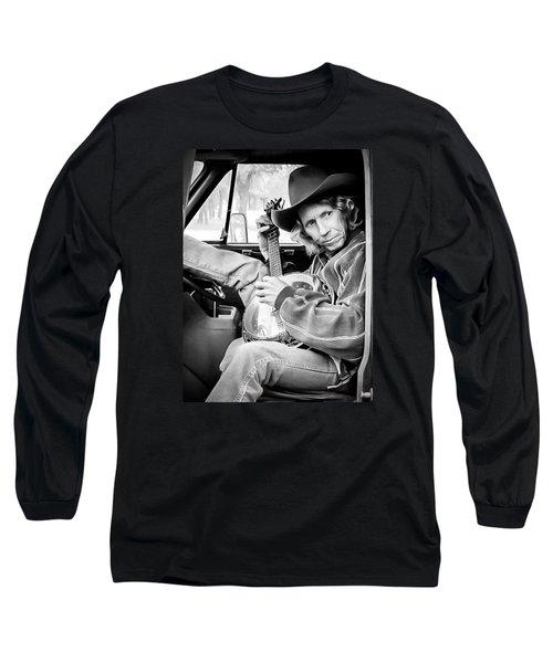 Long Sleeve T-Shirt featuring the photograph Banjo Man by Darryl Dalton