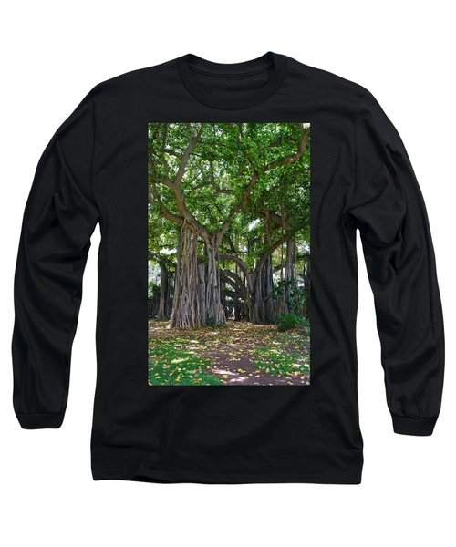 Banyan Tree At Honolulu Zoo Long Sleeve T-Shirt