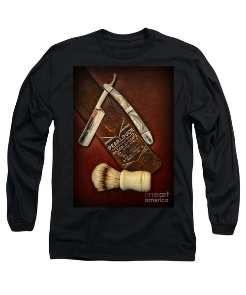 Barber - Tools For A Close Shave  Long Sleeve T-Shirt