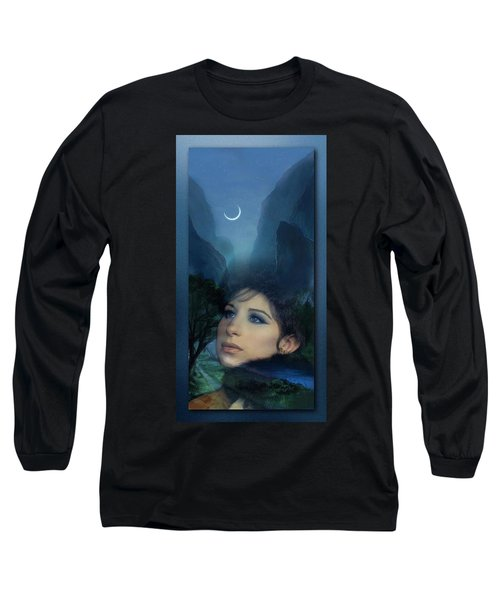 Barbra's Smiling Moon Long Sleeve T-Shirt