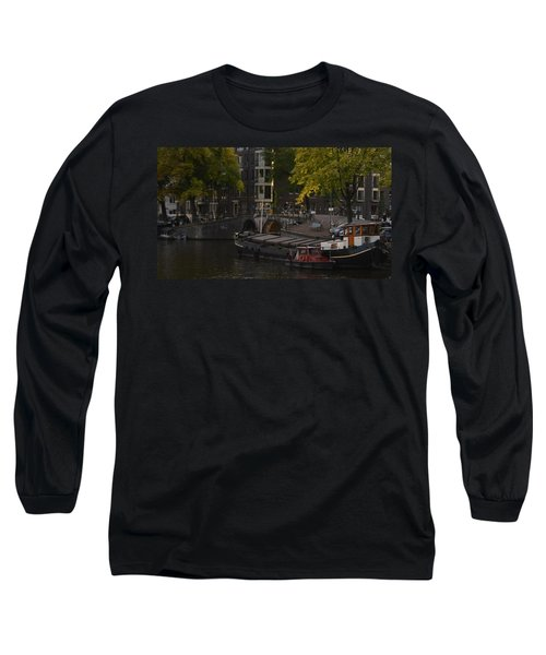 barges in Amsterdam Long Sleeve T-Shirt