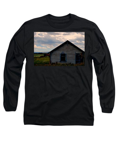 Long Sleeve T-Shirt featuring the photograph Barn And Tractor by Matt Harang