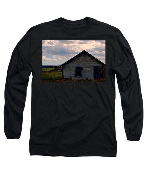 Barn And Tractor Long Sleeve T-Shirt by Matt Harang