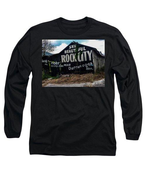 Barn Billboard Long Sleeve T-Shirt