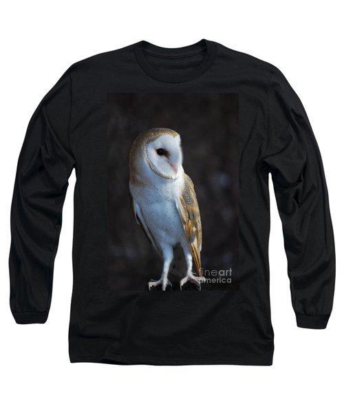 Barn Owl Long Sleeve T-Shirt by Sharon Elliott
