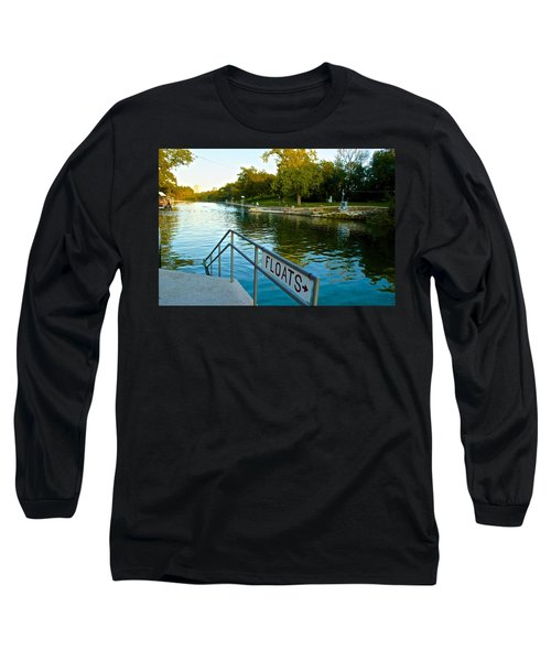 Barton Springs Pool In Austin Texas Long Sleeve T-Shirt