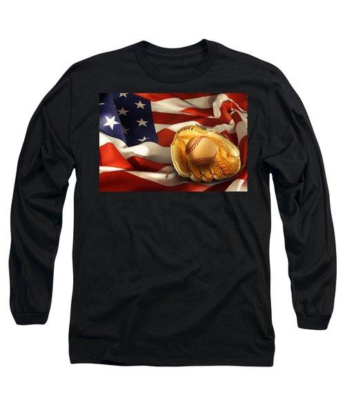 Baseball Long Sleeve T-Shirt by Les Cunliffe