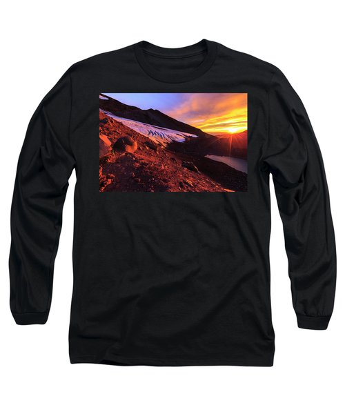 Basecamp Sunrise On South Sister Long Sleeve T-Shirt