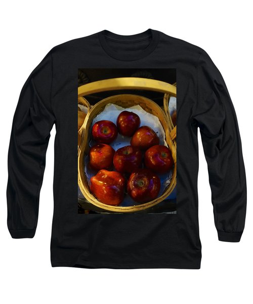 Basket Of Red Apples Long Sleeve T-Shirt