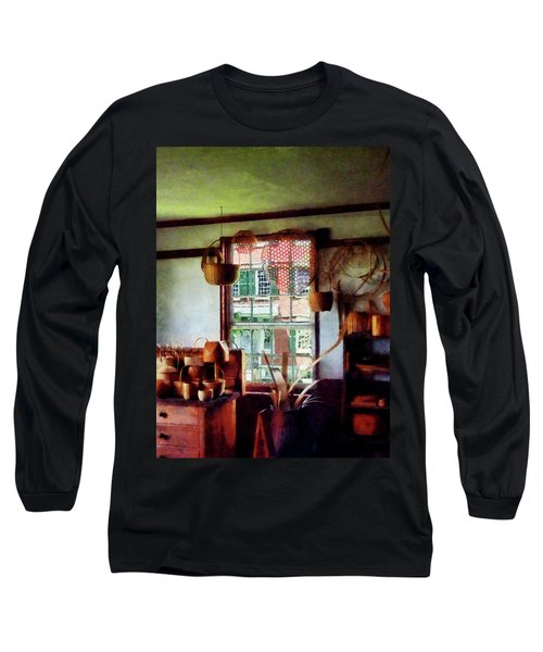 Long Sleeve T-Shirt featuring the photograph Basket Shop by Susan Savad